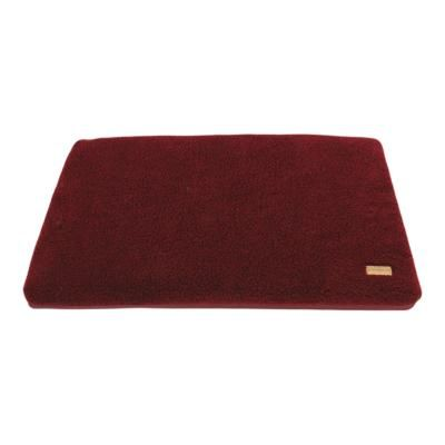 Earthbound Cage Mat Removable Sherpa Waterproof Burgundy