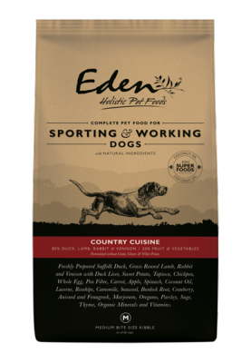 Eden Working Dog Food: 80/20 Country Cuisine for Working and Sporting 15kg