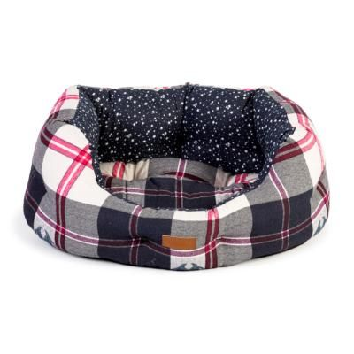 FatFace Penguin Check Deluxe Slumber Dog Bed