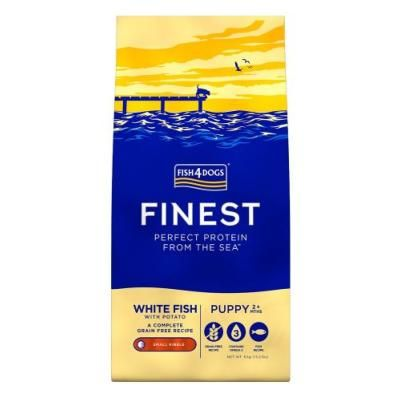 Fish4Dogs Dog Food: Puppy Finest White Fish Large Kibble 6kg