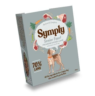 Symply Wet Dog Food: Senior Lamb with Brown Rice 7x395g